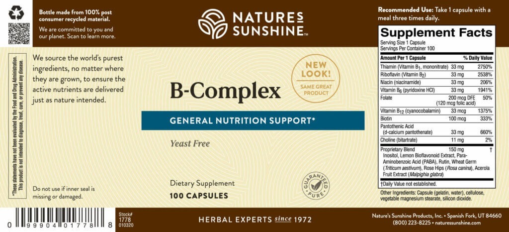 B Complex By Nature S Sunshine
