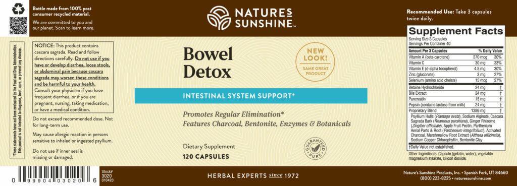Bowel Detox Nature S Sunshine