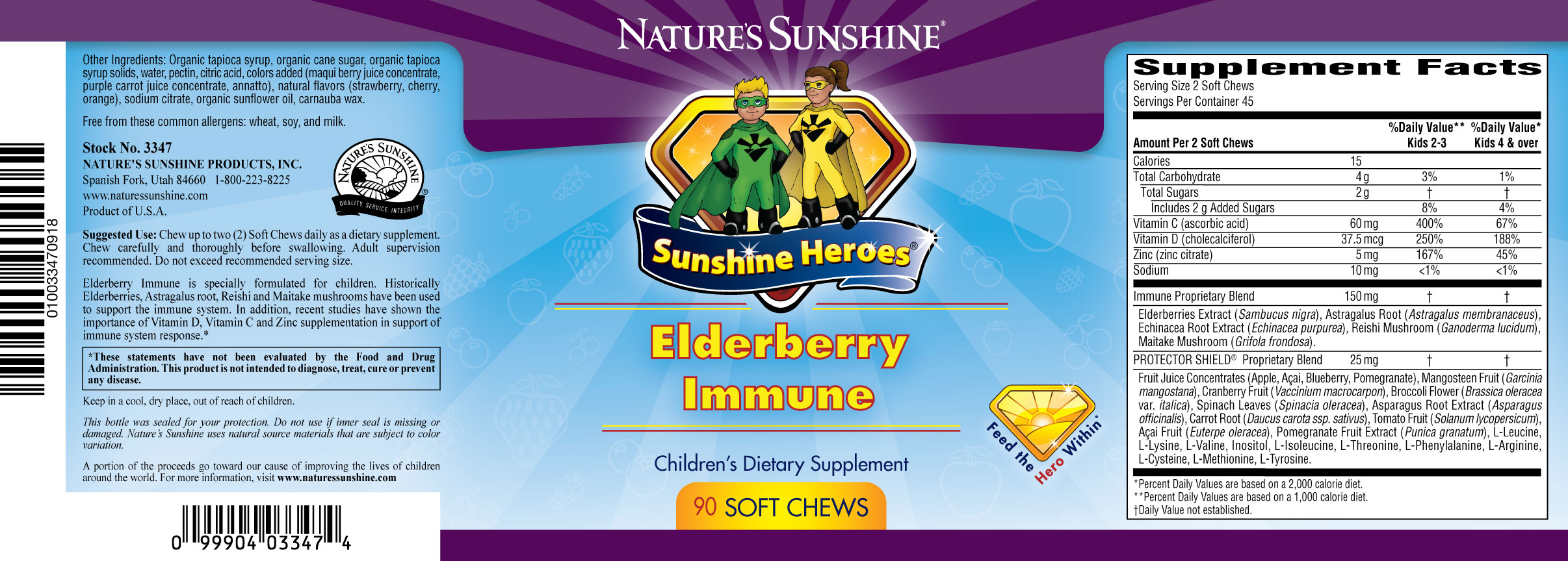 Nature S Sunshine Elderberry Immune