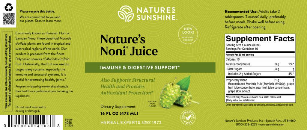 Nature's Noni By Nature's Sunshine
