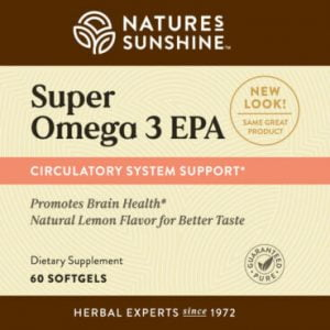 Nature's Sunshine Super Omega 3 EPA Label