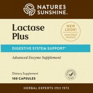 Nature's Sunshine Lactase Plus Label