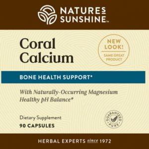 Nature's Sunshine Coral Calcium Label