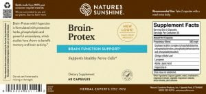 Nature's Sunshine Brain Protex Label