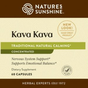 Nature's Sunshine Kava Kava Label