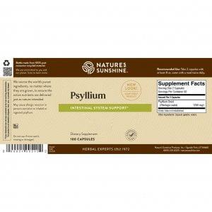 Nature's Sunshine Psyllium Label