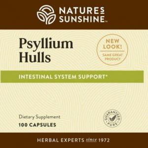 Nature's Sunshine Psyllium Hulls Label