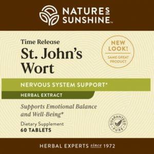 Nature's Sunshine St. Johns Wort Label