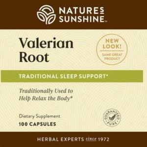 Nature's Sunshine Valerian Root label