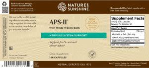 Natures Sunshine APS II Label
