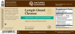 Nature's Sunshine Lymph Gland Cleanse Label