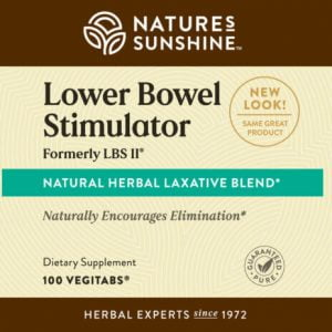 Nature's Sunshine Lower Bowel Stimulator Label