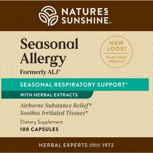 Natures Sunshine Seasonal Allergy ALJ Label