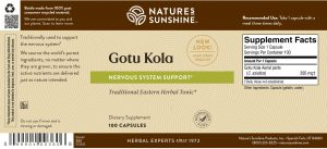 Nature's Sunshine Gotu Kola Label