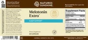 Nature's Sunshine Melatonin Extra Label