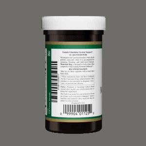 Nature's Sunshine Menstrual Reg right label
