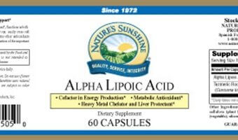 Alpha Lipoic Acid By Nature S Sunshine