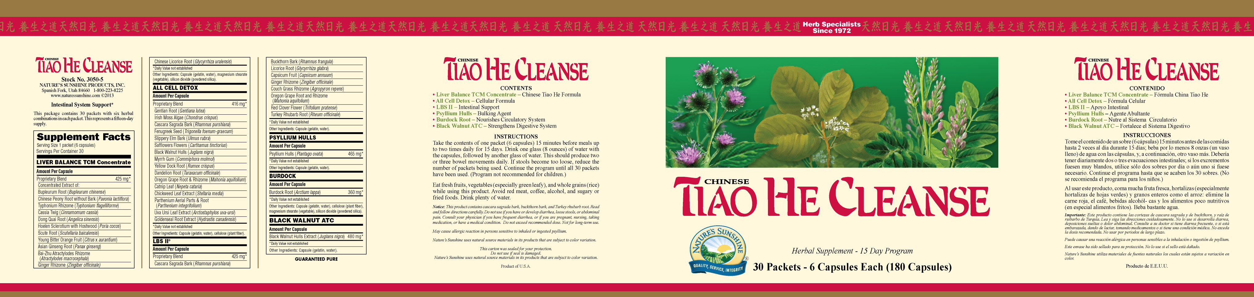 Nature S Sunshine Tiao He Cleanse