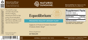 Nature's Sunshine Equolibrium Label