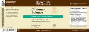 Nature's Sunshine Cinnamon Balance Label