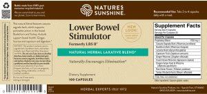 Natures Sunshine LBS II Label
