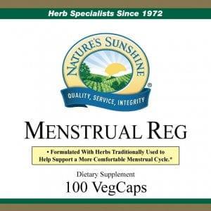 Nature's Sunshine menstrual reg label