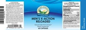 Nature's Sunshine Men's X-Action Reloaded Label