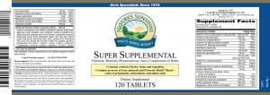 Nature's Sunshine super supplemental label