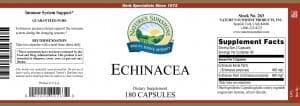 Nature's Sunshine Echinacea Label
