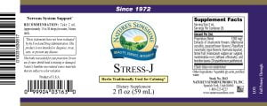 Nature's Sunshine Stress-J label