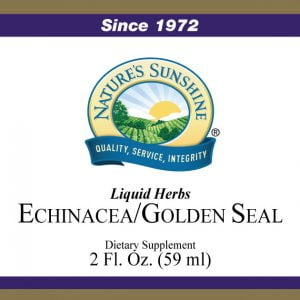 Nature's Sunshine echinacea golden seal label