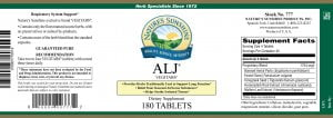 Natures Sunshine ALJ label