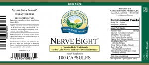Nature's Sunshine Nerve Eight Label