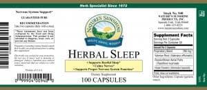 Nature's Sunshine Herbal Sleep