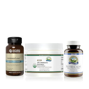Nature's Sunshine AnxiousLess, MY-Immune defense, NutriCalm